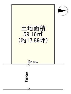 土地-高槻市栄町3丁目 区画図