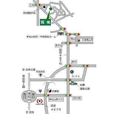 土地-東松山市大字岡 地図