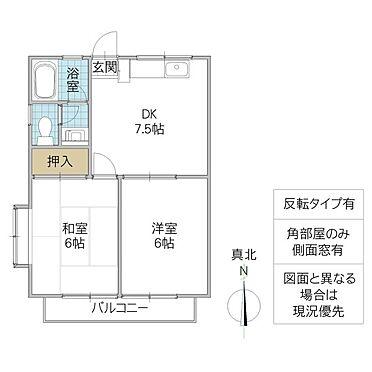アパート-坂東市岩井 間取り