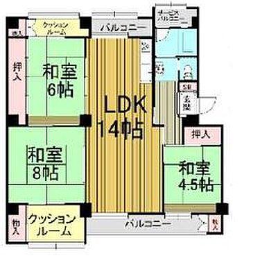 マンション(建物一部)-神戸市灘区鶴甲5丁目 間取り