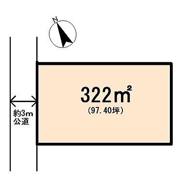 土地-熊谷市八ツ口 区画図