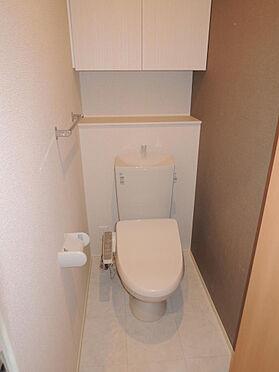 アパート-大東市北条2丁目 トイレ上部に収納あり