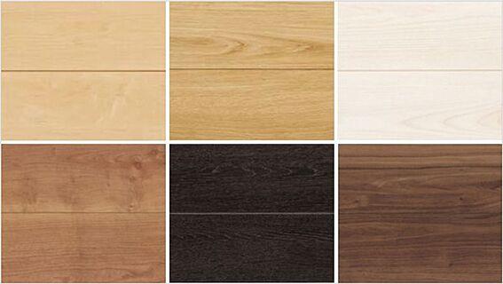 戸建賃貸-西尾市今川町岩根 床のカラー見本です。ナチュラルなイメージからシックなイメージまで、お好みのカラーをお選びください。