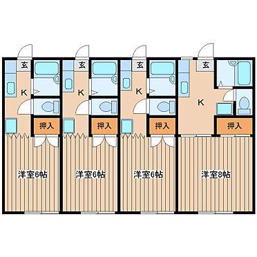 アパート-仙台市若林区中倉2丁目 和室タイプの部屋もあります。