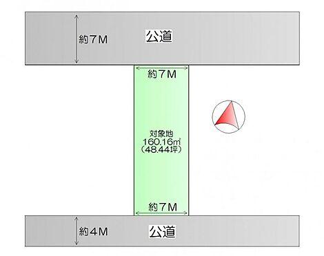 土地-石巻市流留字町 区画図