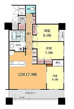 マンション(建物一部)-福島市栄町 間取り図