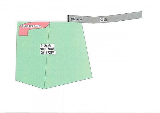 土地-仙台市青葉区小松島4丁目 区画図