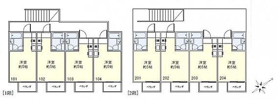 アパート-横須賀市浦賀1丁目 間取り