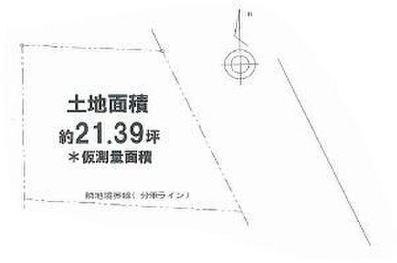 土地-茨木市玉水町 区画図