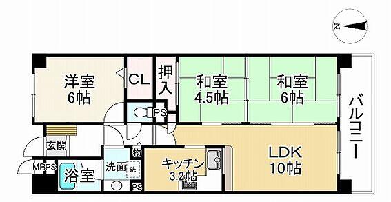 中古マンション-神戸市垂水区多聞町 間取り