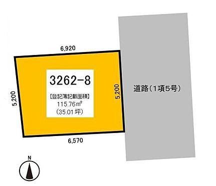 土地-世田谷区桜丘4丁目 参考敷地図