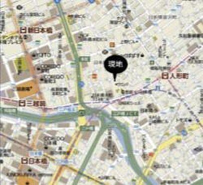 事務所(建物一部)-中央区日本橋小舟町 地図