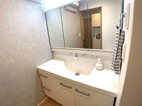戸建賃貸-名古屋市東区百人町 ワイドな鏡で朝の支度もはかどります