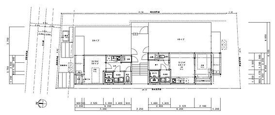 アパート-大阪市淀川区加島3丁目 平面図