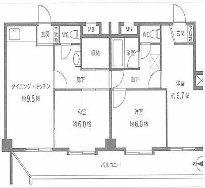 マンション(建物一部)-横浜市神奈川区台町 間取り