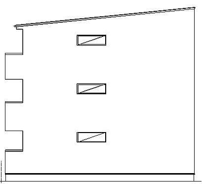 アパート-名古屋市中川区百船町 西立面図