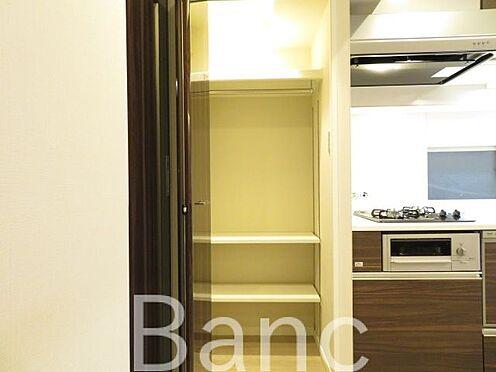 中古マンション-港区赤坂1丁目 キッチン横の便利なマルチクローゼットです。