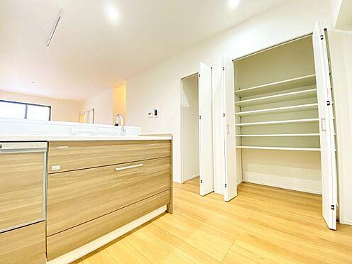 新築一戸建て-福岡市南区西長住3丁目 キッチン周り収納、大変充実しております!