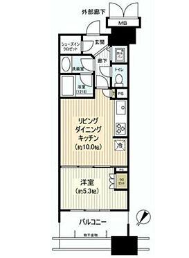 マンション(建物一部)-中央区晴海5丁目 間取り
