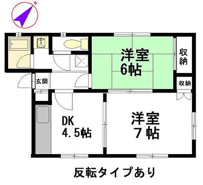 アパート-栃木市都賀町平川 A棟間取図