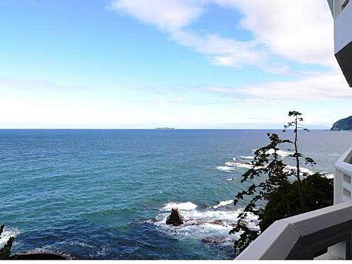 中古マンション-熱海市上多賀 網代方面の眺望。オーシャンフロントです。