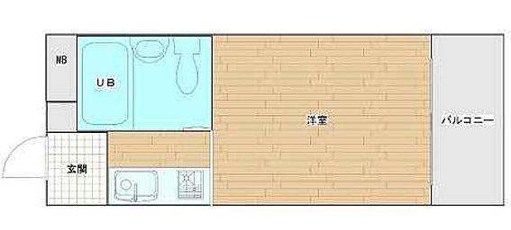 マンション(建物一部)-神戸市東灘区深江本町1丁目 ひとり暮らしに使い勝手がいい間取り。