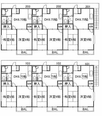 アパート-久喜市青毛3丁目 間取り
