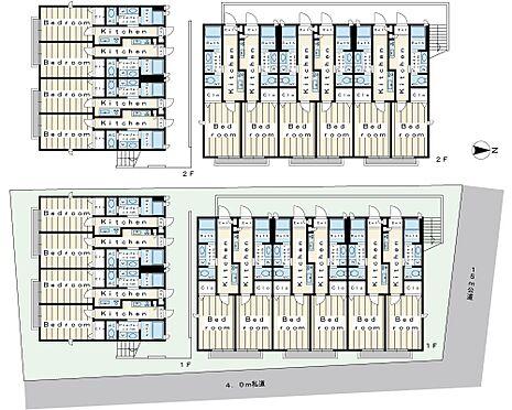 アパート-松戸市松戸新田 松戸市松戸新田2棟一括売りアパートのご紹介です。