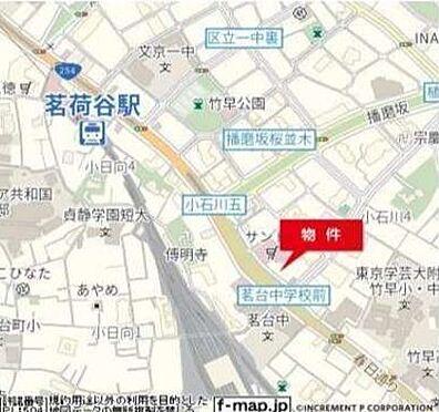 事務所(建物一部)-文京区小石川4丁目 地図