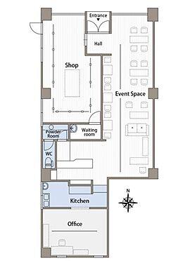 店舗(建物一部)-国立市東1丁目 間取り図