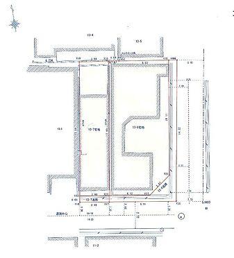 土地-大阪市城東区成育4丁目 区画図