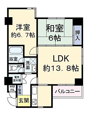 中古マンション-大阪市西区新町1丁目 間取り