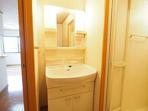 アパート-直方市大字感田 201号室洗面台