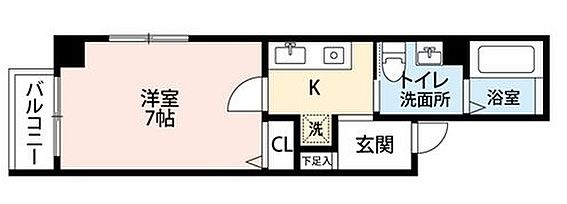 一棟マンション-大阪市中央区松屋町住吉 間取り