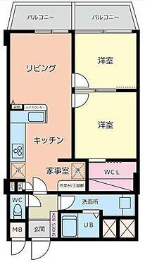 区分マンション-福岡市中央区西公園 間取り
