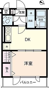 区分マンション-さいたま市北区宮原町4丁目 【間取】1DK