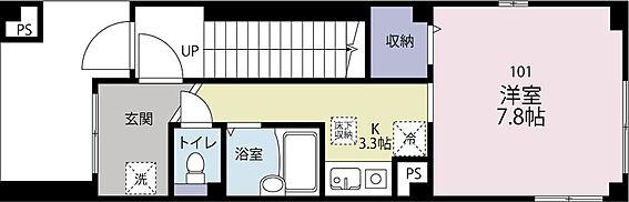 アパート-世田谷区代田5丁目 1階 1Kタイプ 26平米 満室稼働中 (410.4万円/年収入)