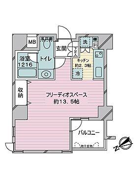 区分マンション-渋谷区恵比寿3丁目 間取り