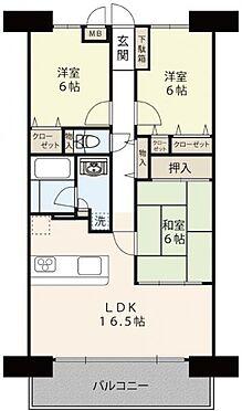 区分マンション-枚方市三栗1丁目 間取り 3LDK