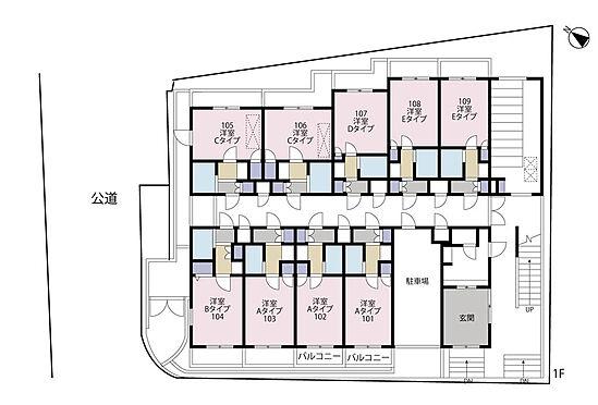 マンション(建物全部)-横浜市磯子区磯子3丁目 1階平面図