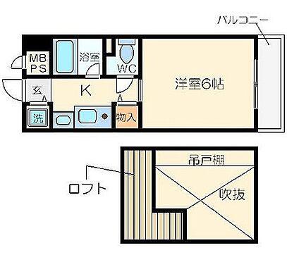 マンション(建物一部)-大阪市都島区片町2丁目 人気のロフトを設けた単身者向けプラン