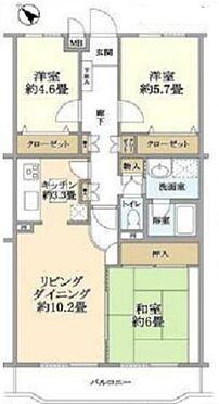 中古マンション-横浜市南区平楽 間取り