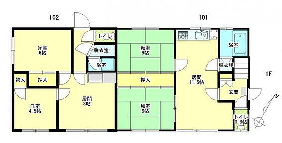 アパート-札幌市北区篠路一条8丁目 間取り