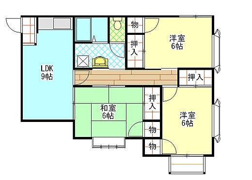 アパート-新潟市西区善久 3LDKタイプ 4室あり