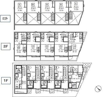 アパート-名古屋市南区豊2丁目 間取図 現況優先