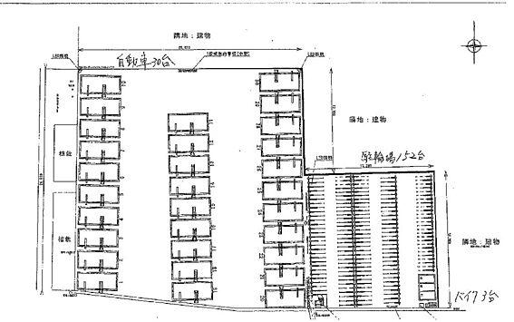 土地-豊中市庄内西町2丁目 敷地配置図