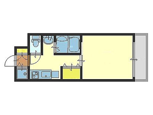 マンション(建物一部)-大阪市中央区法円坂1丁目 ひとり暮らしに便利な間取り