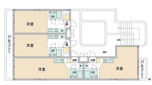 一棟マンション-八王子市大塚 4F