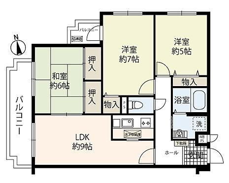 マンション(建物一部)-豊中市熊野町1丁目 間取り 3LDK