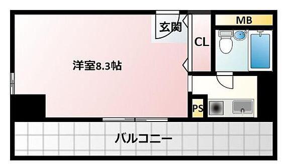 マンション(建物一部)-大阪市北区中之島5丁目 広々バルコニーのあるワンルーム